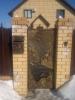 Кованые откатные ворота и калитка. _5
